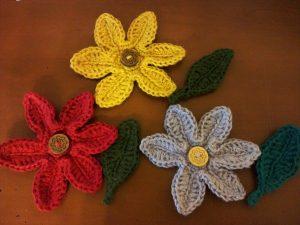 麻糸 花のモチーフ